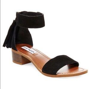 Black Steve Madden Tassel Sandals